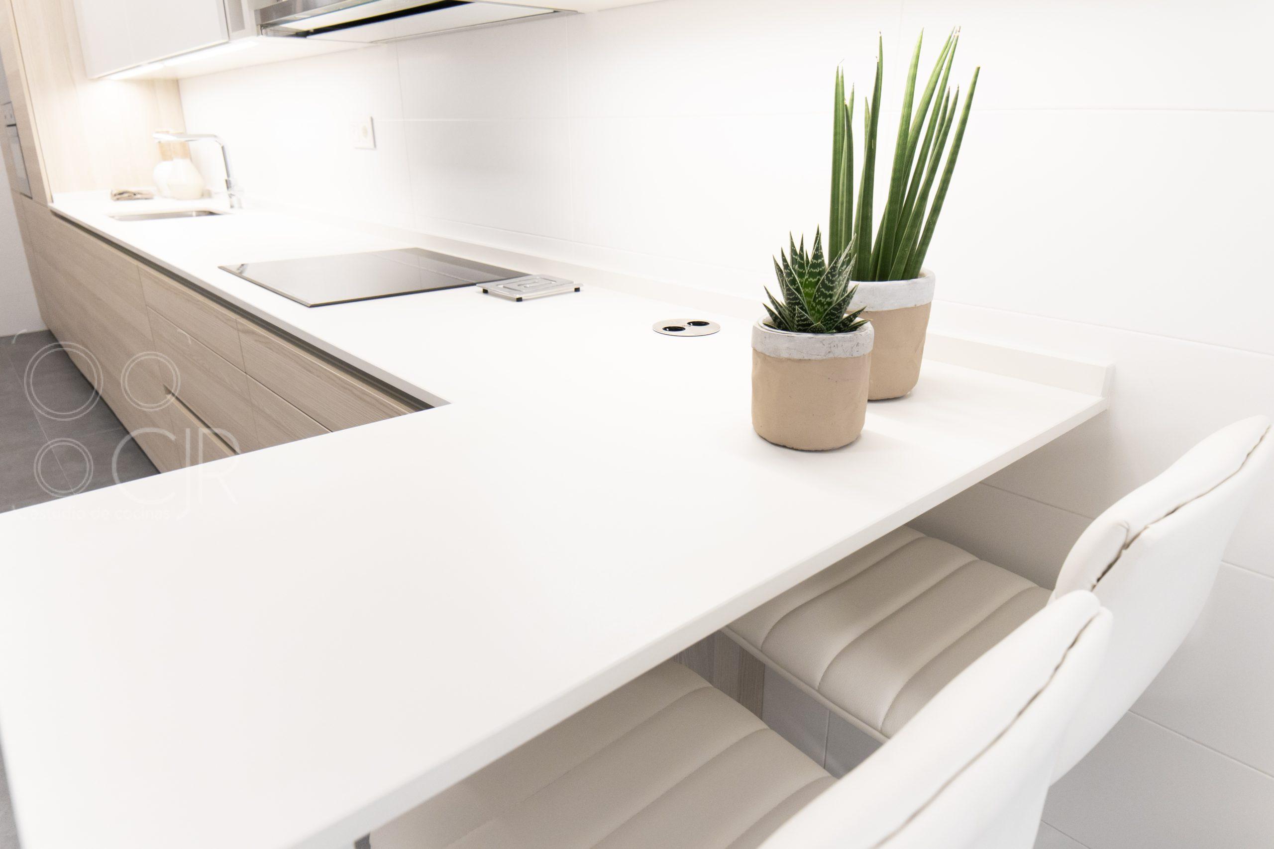 barras para cocina moderna blancas dekton