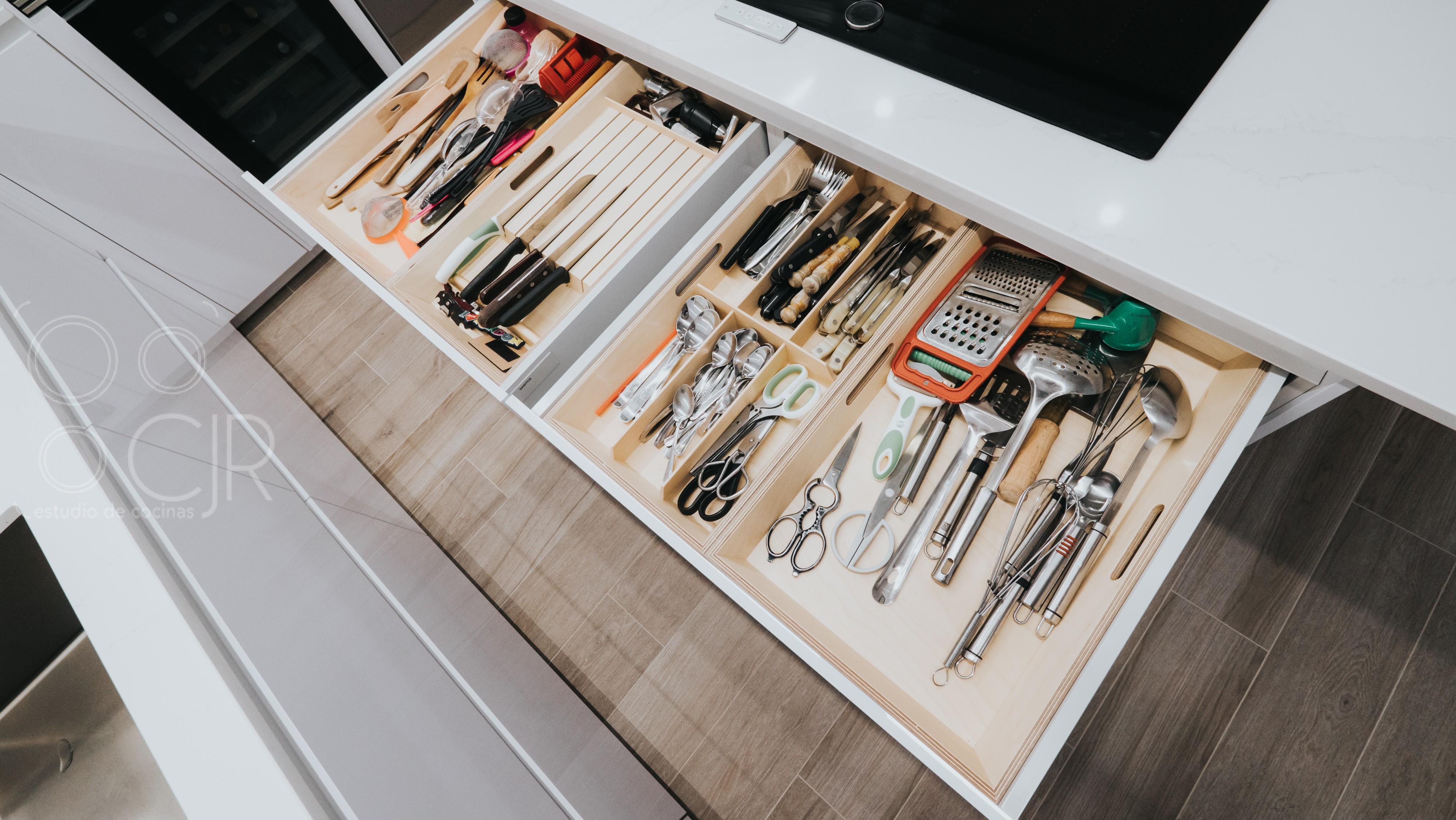 cuberteros de madera para cocina