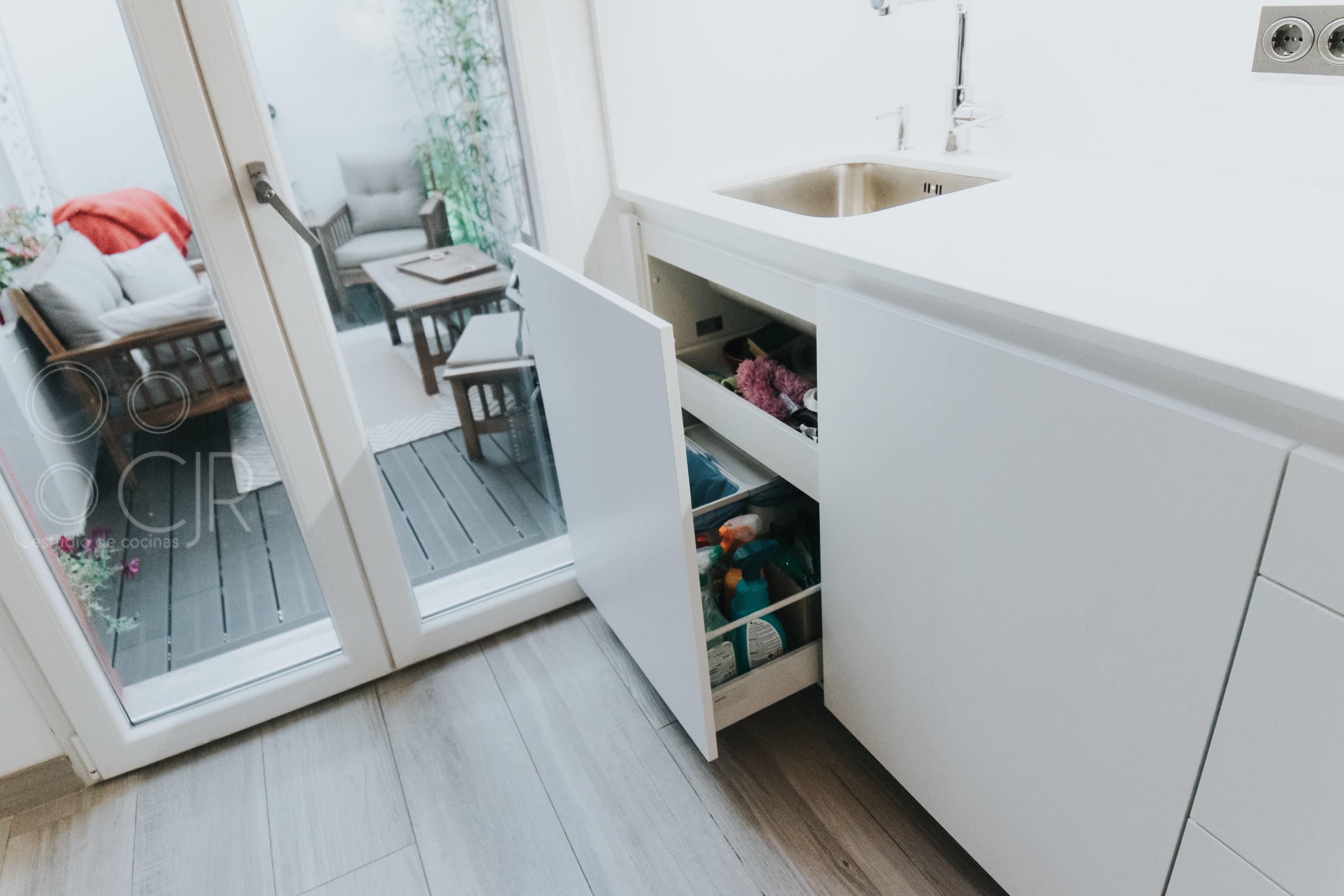 fregadero integrado cocina