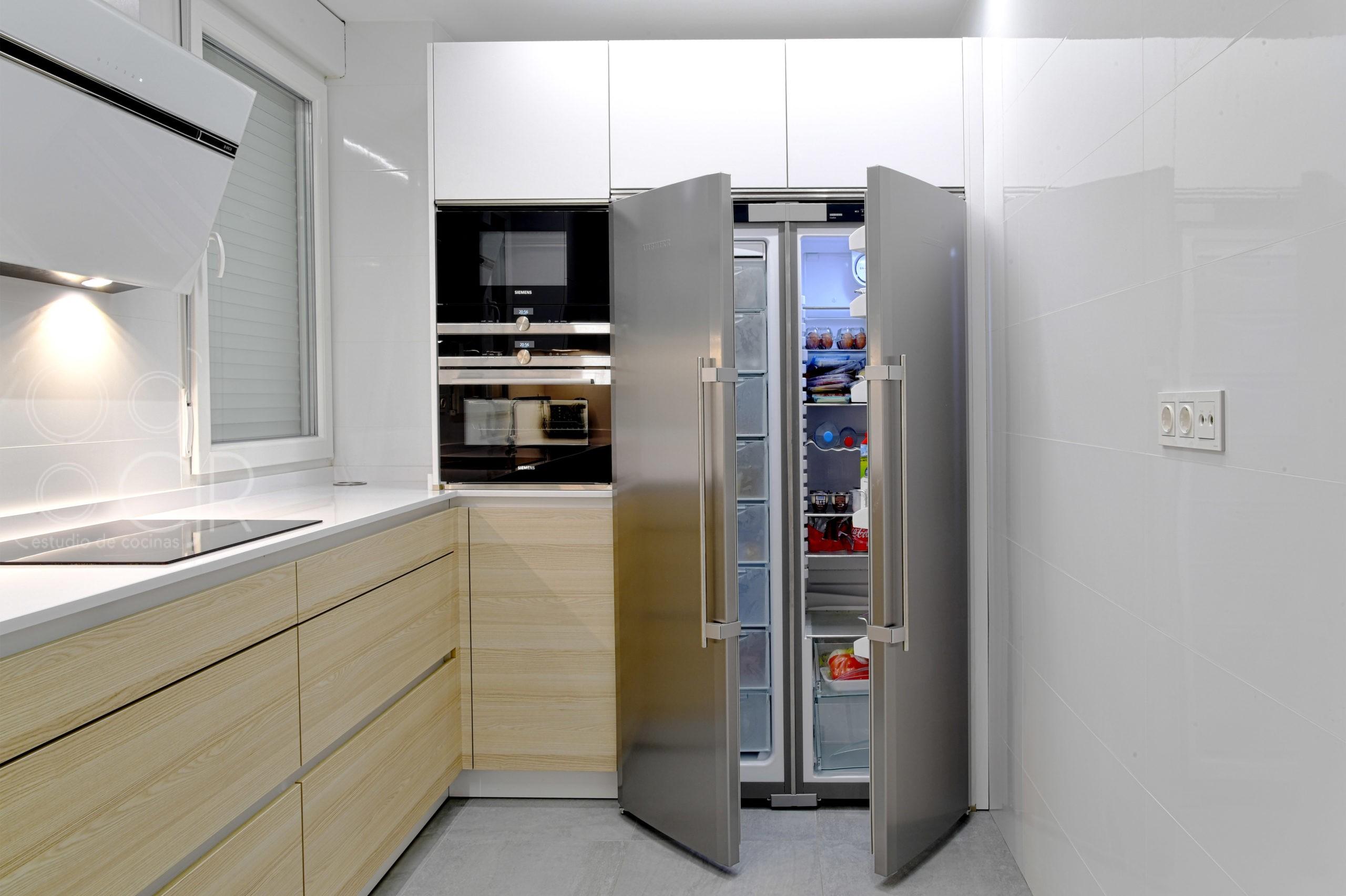 side by side doble frigo y congelador cocina inox